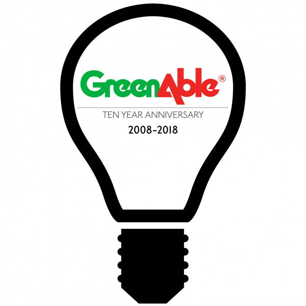 Illustration of a lightbulb celebrating ReliAble's tenth anniversary
