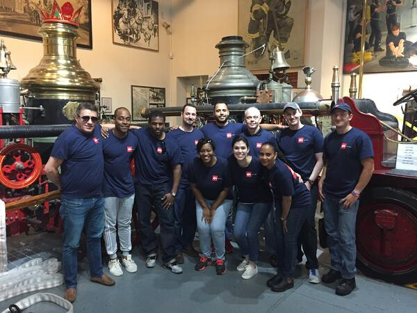 BACK left to right: Shpend Koleci, Deaven Richardson, Schuyler Smith, Kevin Groen, Allan Escobar, Paul Magda, Mike Roach, Nick Van Ness FRONT left to right: Fatimah Gadson, Lexi Weinberg, Dawn Short